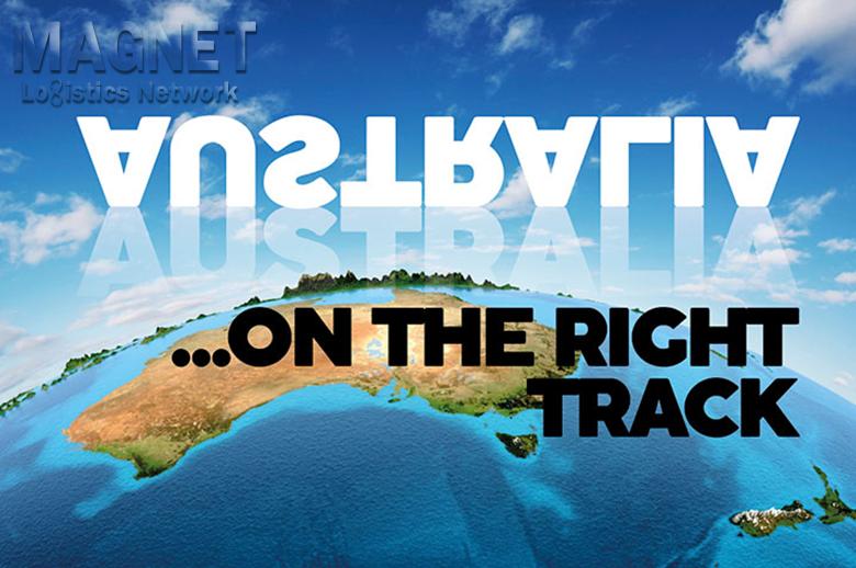 AUSTRALIA ON THE RIGHT TRACK